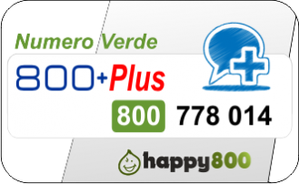 Numero Verde 800 +Plus  Happy800