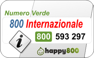 Numero Verde 800 Internazionale  Happy800
