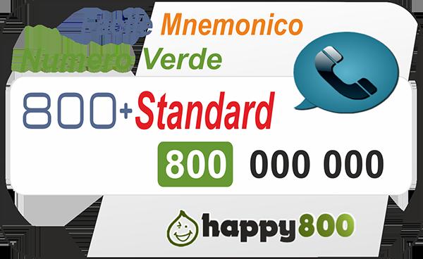 Numero Verde 800 Ricaricabile Mnemonico
