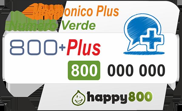 Numero Verde 800 Ricaricabile PLUS Mnemonico
