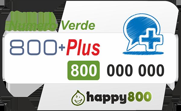 Numero Verde 800 Ricaricabile PLUS